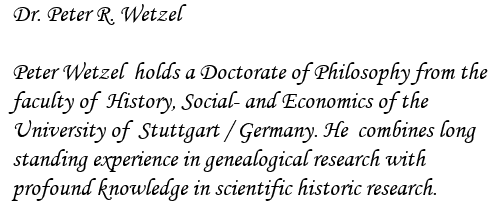 Dr. Peter R. Wetzel  